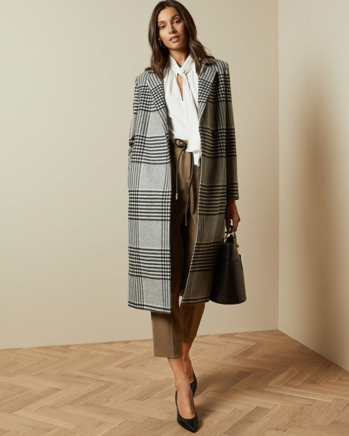 Ted Baker Wool Checked Coat Jacket