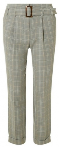 Dorothy Perkins Womens Grey Checked - Grey, Grey Tapered Trouser