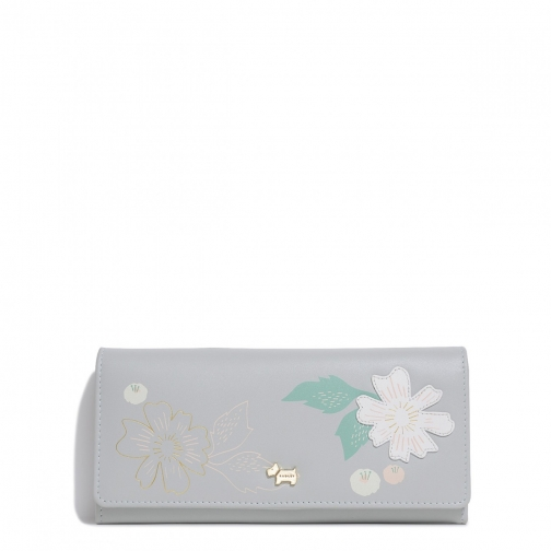 Radley Painterly Floral Applique Large Flapover Matinee Purse