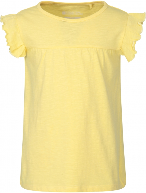 Mountain Warehouse Frill Kids Top - Yellow T-Shirt