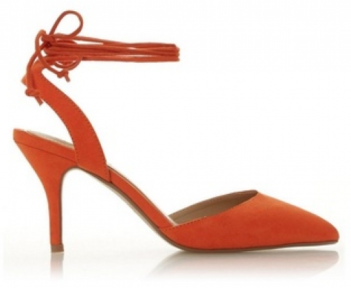 Head Over Heels By Dune Orange 'Camley' Ladies Heel Sandals