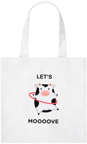 Forever21 Forever 21 Lets Moooove Graphic Eco Bag , White/multi Tote