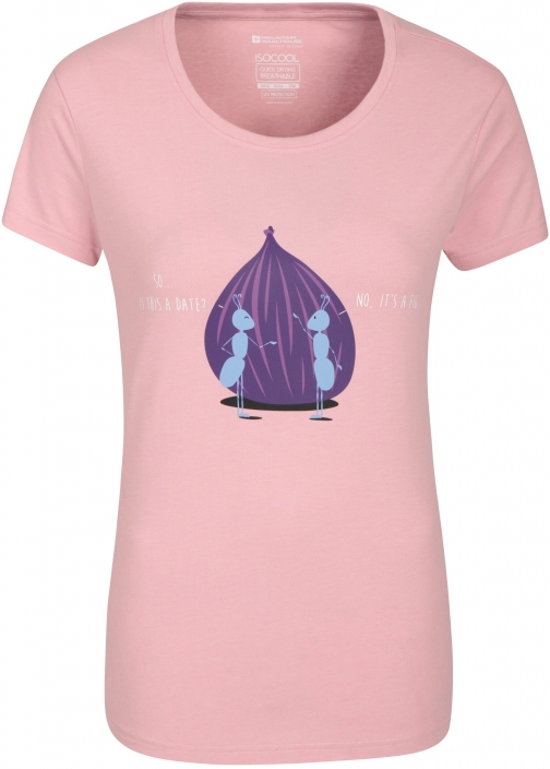 Mountain Warehouse Is It A Date Printed Womens Tee - Pink T-Shirt