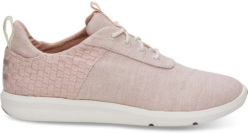 Toms Blossom Basketweave Slub Chambray Women's Cabrillo Sneakers Shoes