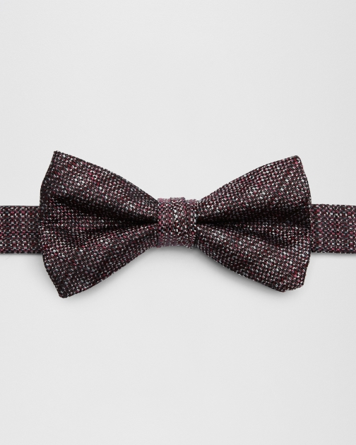 Ted Baker Woven Silk Red Bow Tie