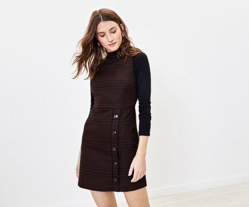 Oasis Puppytooth Shift Dress