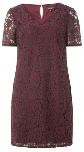 Dorothy Perkins Purple Two Tone Lace Shift Dress