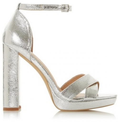 Head Over Heels By Dune Silver 'Mamba' Ladies High Heel Sandals