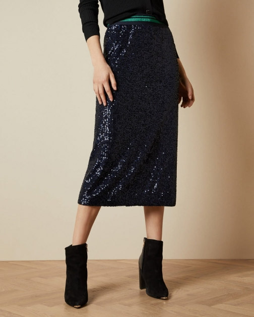 Ted Baker Sequin Midi Skirt