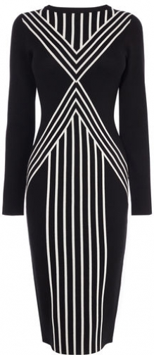 Karen Millen Body Contour Midi Dress