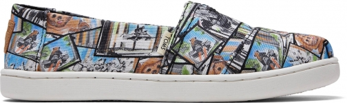 Toms Multi Star Wars Ewok™ Print Youth Classics Slip-On Shoes