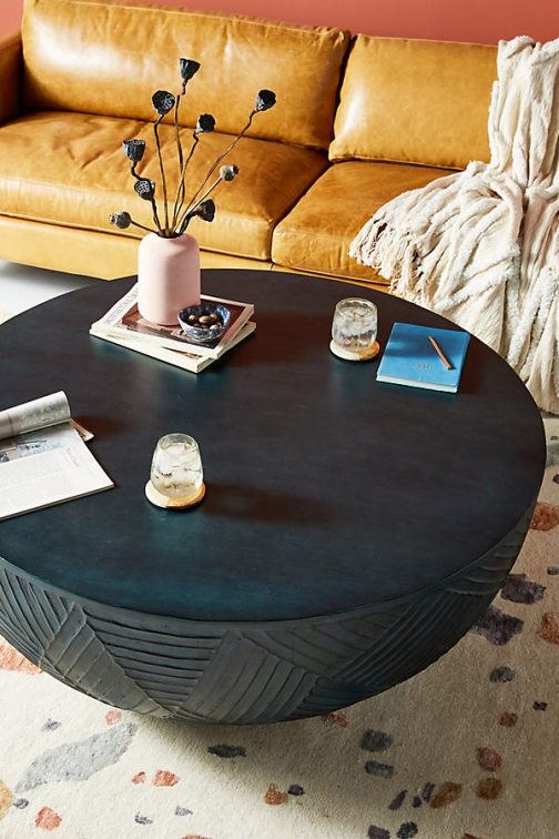 Anthropologie Paje Coffee Table - Indigo, Size Accessorie