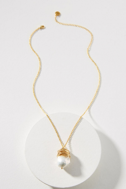 Amber Sceats Mishell Pearl Necklace