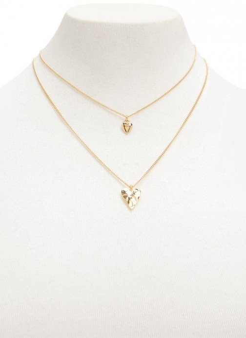 Forever21 Forever 21 Heart Pendant Necklace Set , Gold Jewellery