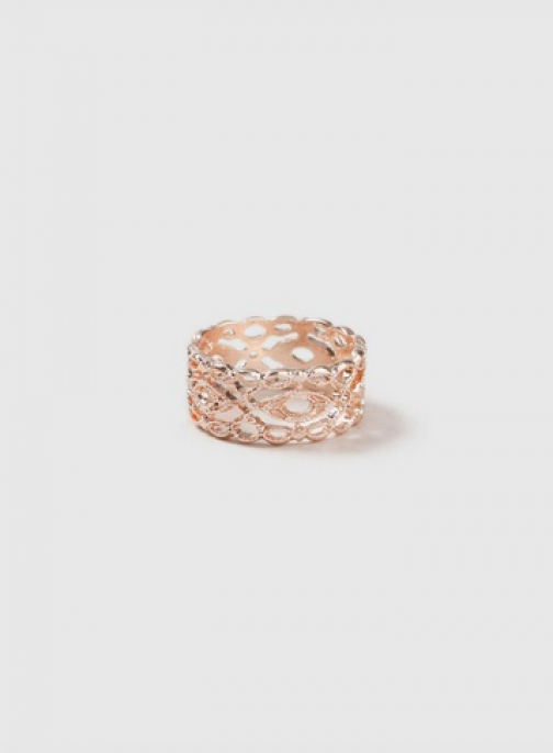 Dorothy Perkins Rose Gold 'Filigree' Ring