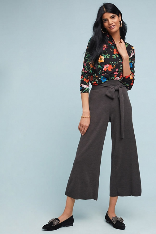 Moth Tie-Front Sweater Trouser