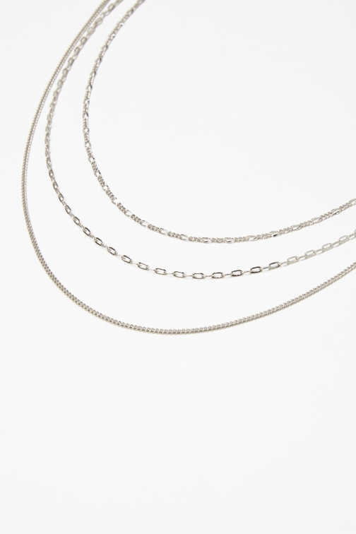 Forever21 Forever 21 Chain Necklace Set , Silver Jewellery