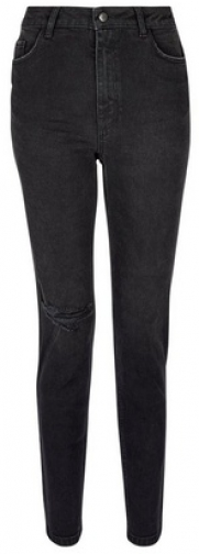 Dorothy Perkins Black 'Mom' High Rise Tapered Jeans