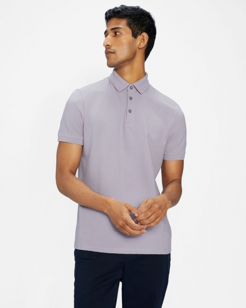 Ted Baker Textured Cotton Polo