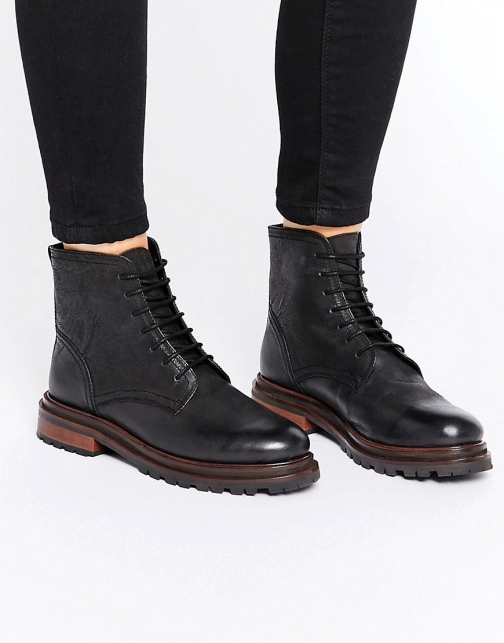 Asos H By Hudson Lingshaw Lace Up Boot