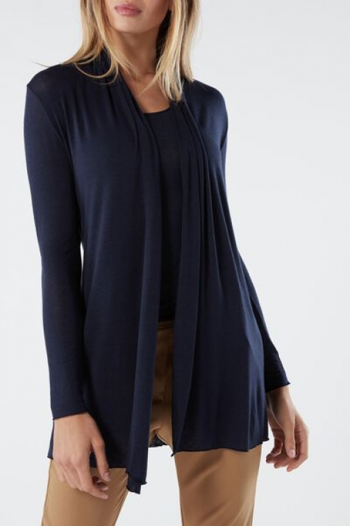 Intimissimi Long Cashmere Ultralight Woman Blue Size S Cardigan