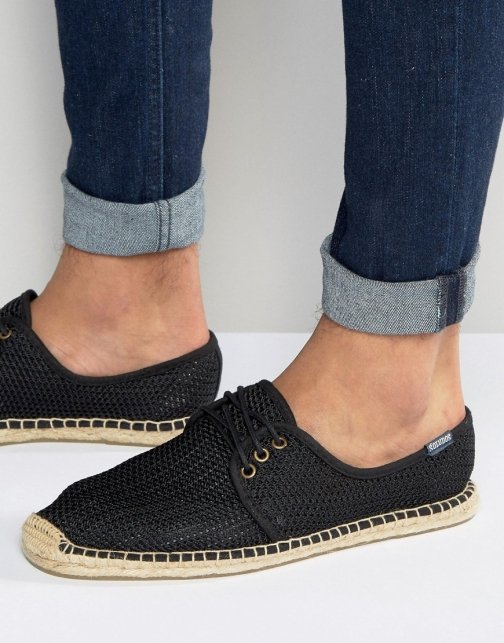Soludos Lace Up Mesh Espadrille