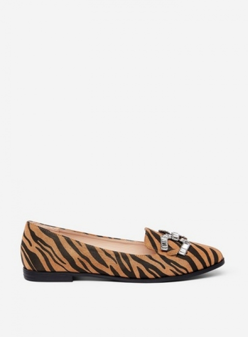 Dorothy Perkins Brown 'Palace' Tiger Print Pumps