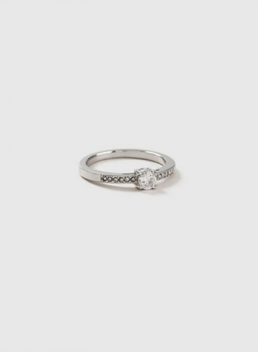 Dorothy Perkins Womens Silver Cubic Zirconia - Silver, Silver Ring