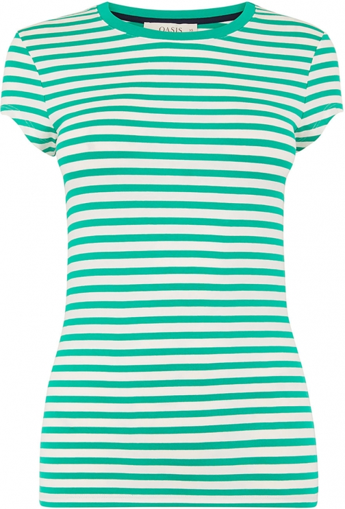 Oasis STRIPE FITTED TEE T-Shirt