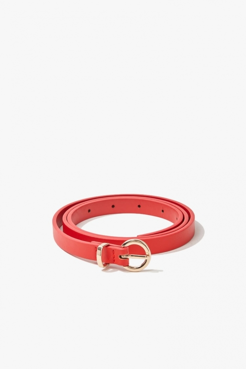 Forever21 Forever 21 Faux Leather Hip , Red Belt