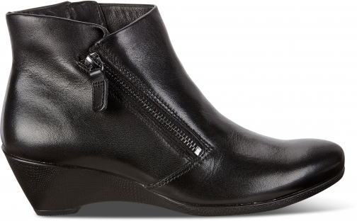 Ecco Sculptured 45 W Zip Size 5/5.5 Black Boot