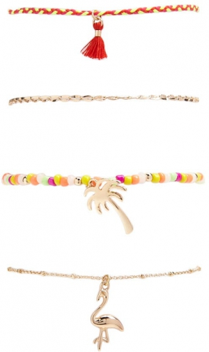 Forever21 Forever 21 Assorted Set , Gold/multi Bracelet