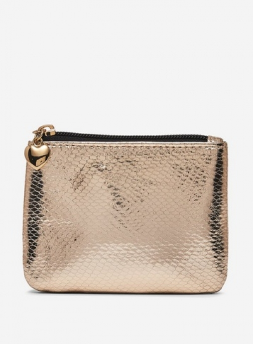 Dorothy Perkins Gold Snake Texture Purse