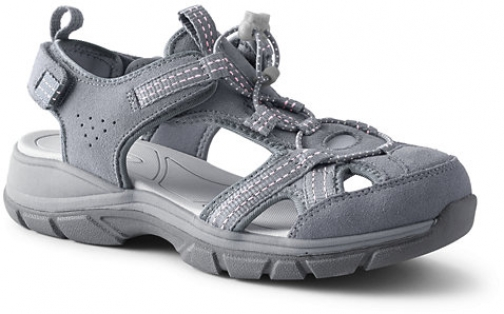 Lands' End Women's All Weather Closed Toe - Lands' End - Gray - 6 Sandals
