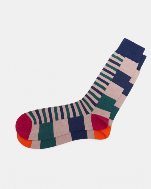 Ted Baker Striped Block Cotton Sock
