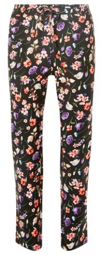 Dorothy Perkins Womens **Vero Moda Multi Coloured Floral Print Joggers- Navy, Navy Athletic Pant