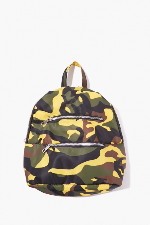 Forever21 Forever 21 Camo Print , Green/multi Backpack