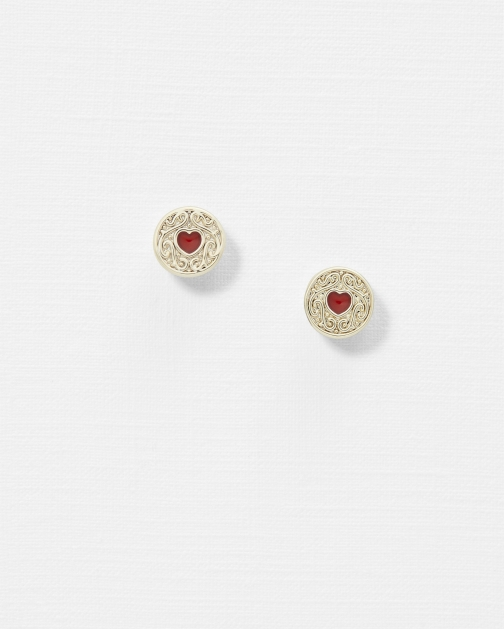 Ted Baker Biscuit Button Earring