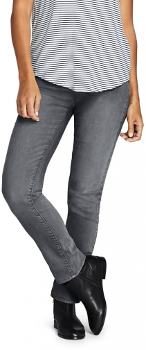 Lands' End Women's Mid Rise - Color - Lands' End - Gray - 2 30 Straight Leg Jeans