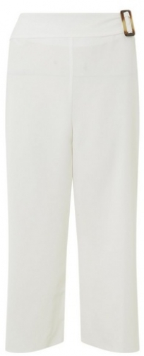 Dorothy Perkins Ivory Horn Button Crop Trousers Trouser