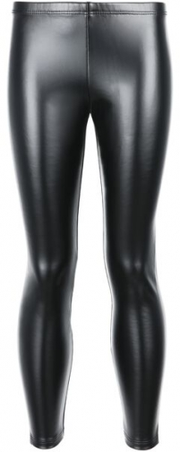 Calzedonia Girl's Thermal Leather-effect Girl Black Size 11-12 Legging