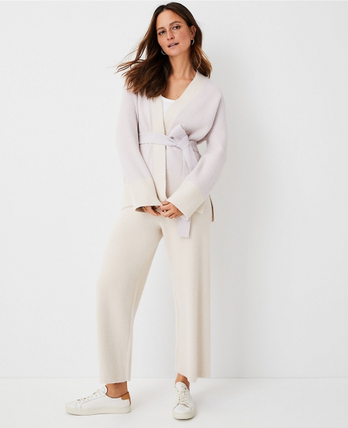 Ann Taylor Petite Belted Wrap Cardigan