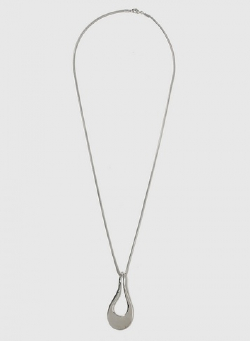 Dorothy Perkins Womens Cut Out Oval - Silver, Silver Necklace