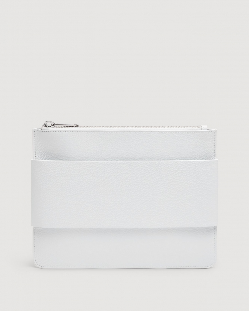7 For All Mankind Women's Mankind White Clutch