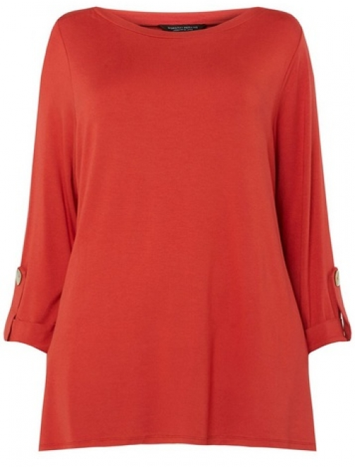 Dorothy Perkins Womens **DP Curve Rust Pearl Cuff - Red, Red Top