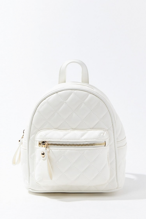 Forever21 Forever 21 Quilted Mini , White Backpack