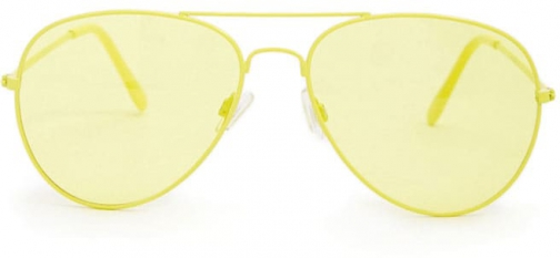 Forever21 Forever 21 Tinted Aviator Yellow/yellow Sunglasses