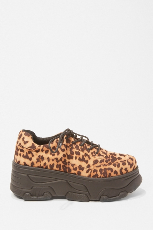 Forever21 Forever 21 Leopard Print Low-Top Sneakers , Brown/multi Trainer