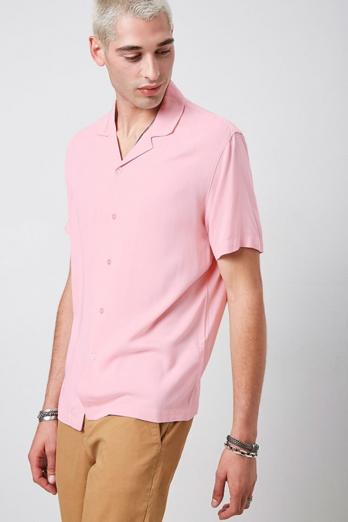 21 Men Classic Fit Short Sleeve At Forever 21 , Pink Shirt
