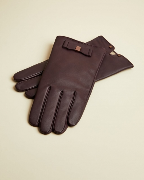 Ted Baker Bow Detail Leather Glove